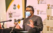 Transport Minister Fikile Mbalula at the NW taxi lekgotla on Thursday, 22 October 2020. Picture: @MbalulaFikile/Twitter