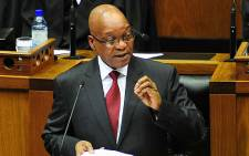 FILE: President Jacob Zuma addresses Parliament during the 2014 State of the Nation Address. Picture: GCIS.