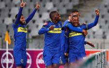 Cape Town City players celebrate their 2-0 win over SuperSport United. Picture: @CapeTownCityFC/Twitter.