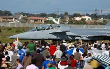 FILE: One of the Saab Gripen fighter jets, bought by the South African Airforce, as part of the country's controversial arms deal. Picture: AFP