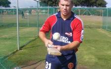 Daredevil David Warner preparing for a net session ahead of the IPL