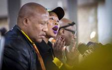 ANC chief whip Jackson Mthembu and Deputy Minister of Telecommunications Stella Ndabeni-Abrahams at a communications briefing at the ANC national policy conference on 5 July 2017. Picture: Thomas Holder/EWN