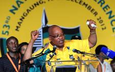 BUOYANT MOOD: ANC President opens the party's 53rd National Conference in Manguang, Free State, on 16 December 2012. Picture: ANC Pix