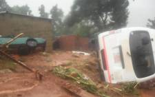 Cyclone Idai wreacks havoc in various parts of Zimbabwe. Picture: Twitter.