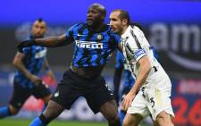 Inter Milan's Romelu Lukako and Juventus's Giorgio Chiellini tussle for a high ball during their Serie A match on 17 January 2021. Picture: @Inter_en/Twitter