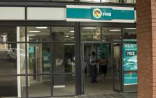 The entrance to the FNB Randburg branch in Johannesburg.. Picture: Reinart Toerien/EWN.