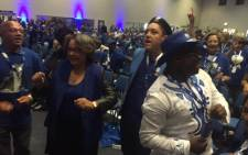Cape Town Mayor Patricia de Lille and Human Settlements MEC Bonginkosi Madikizela on the dance floor during the DA's provincial election congress on 18 April 2015. Picture: Siyabonga Sesant/EWN.