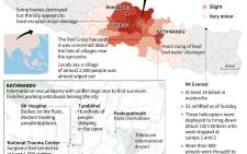 Updated overview of the situation in Nepal where more than 4,300 have died as a result of Saturday's earthquake. Source: AFP.