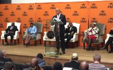 NPA head Shaun Abrahams at a media briefing on 23 May 2016. Picture: Vumani Mkhize/EWN.
