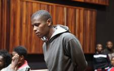 Lesley Lekgoa Motleleng, accused of murdering Duduzile Zozo in an alleged lesbian hate crime appears at the Palm Ridge Magistrate's Court. Picture: Vumani Mkhize/EWN