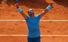 FILE: Rafael Nadal reacts after beating Dominic Thiem to claim his 11th French Open title. Picture: @rolandgarros/Twitter.