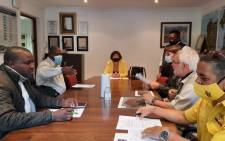 Minister of Environmental Affairs Barbara Creecy at the Newlands Fire Base to receive a briefing on the recent  Cape Town fires. Picture: Twitter/@wo_fire
