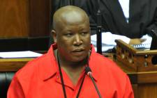 Julius Malema says he will take Thandi Modise to court over his ejection from Parliament. Picture: EWN.