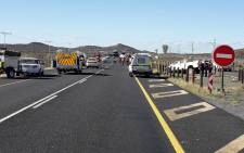 Three people have passed away after a car and bakkie collided on the N1 near Laingsburg on Sunday, 30 May 2021. Picture: Supplied