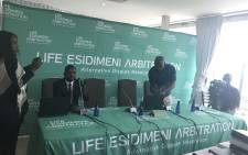 Alternative Dispute Resolution process between the State and families of victims of the Life Esidimeni patients started in Parktown on 9 October 2017. Picture: Masego Rahlaga/EWN.