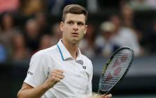 Hubert Hurkacz shocks second seed Daniil Medvedev with a five-set win in their Wimbledon mtach on 6 July 2021. Picture: @atptour/ Twitter