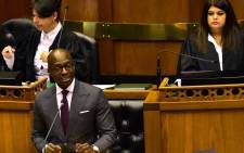 Finance Minister Malusi Giagaba delivering 2018 Budget Speech in Parliament on 21 February. Picture: GCIS.