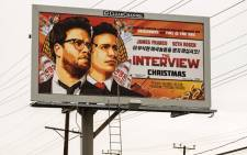 FILE:A billboard for the film 'The Interview' is displayed 19 December, 2014 in Venice, California. Picture: AFP.