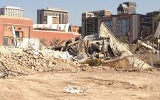 The Munitoria Building was demolished on 7 July 2013. Picture: Reinart Toerien/EWN