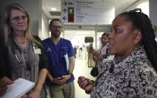Western Cape Health MEC Nomafrench Mbombo conducted an unannounced site visit at Karl Bremer Hospital. Picture: Cindy Archillies/EWN