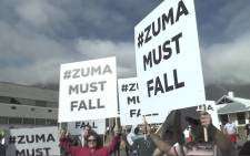 People from across Cape Town marched on 27 April 2016 demanding President Jacob Zuma resign. Picture: EWN.