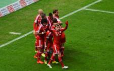 Bayern Munich players celebrate their Bundesliga title triumph after their win against Hertha Berlin on 25 March 2014. Picture: Facebook.