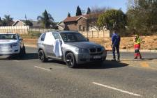 A man was shot dead and two others wounded on the corner of President Fouche Drive and Malibongwe Drive in Randburg on 17 July 2018. Picture: Supplied.