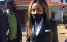 Norma Gigaba made a brief appearance in the Hatfield Magistrates Court on 3 August 2020 after she was arrested on Friday and let out on bail the next day. Picture: Veronica Mokhoali/EWN