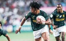 The SA Sevens rugby team in action. Picture: @Blitzboks/Twitter