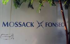 FILE. A sign outside the building where Panama-based Mossack Fonseca law firm offices are placed in Panama City on 3 April 2016. Picture: AFP.