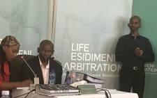 Manager of the Mamelodi Hospital mortuary Daniel Buda testifying at the Esidimeni arbitration hearing on 30 November 2017. Picture: Masego Rahlaga/EWN