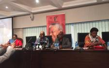 Trade union federation Cosatu briefs the media on the outcomes of its central executive committee meeting. Picture: Clement Manyathela/EWN.