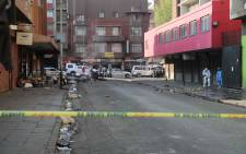 The scene of a shooting in Johannesburg CBD where seven people were wounded. Picture: Christa Eybers/EWN