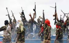 The Niger Delta Avengers (NDA), a militant group in the creeks of the oil-rich Southern Nigeria region. Picture: Twitter/@akinto70