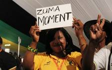 FILE: Supporters of President Jacob Zuma celebrate his re-election as ANC President in Mangaung. Picture: EWN.