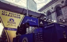 Adidas at the Boston Marathon. Picture: Twitter/@bostonmarathon.