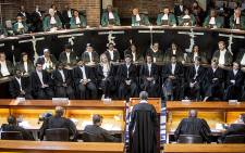 Deputy Chief Justice Dikgang Moseneke delivered his last judgment as a judge in the Constitutional Court in Johannesburg. Picture: Reinart Toerien/EWN.