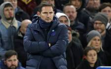 Chelsea's head coach Frank Lampard looks on during the English Premier League football match between Chelsea and Manchester United at Stamford Bridge in London on 17 February 2020. Picture: AFP
