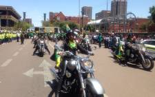 Hundreds of women begin their march to the Union Buildings in style, organised by the ANC Women's League on 30 October 2015. Picture: Mia Lindeque/EWN.
