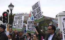 FILE: Members of Save South Africa protested outside of Parliament following the Cabinet reshuffle. Picture: Cindy Archillies/EWN