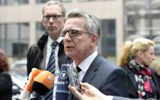 FILE: German Interior Minister Thomas De Maiziere. Picture: Thierry Charlier/AFP.