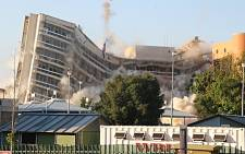 The old municipal buildings in Sandton were demolished in Sandton on 15 November 2015 to make way for new developments in the city. Picture: Reinart Toerien/EWN.