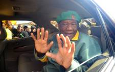 FILE: Thomas Thabane, leader of All Basotho Convention (ABC), greets supporters in Maseru on 27 May, 2012 a day after the people of Lesotho went to the polls in National Assembly Elections. Picture: AFP
