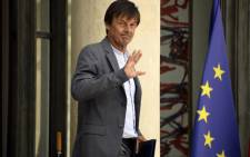 French Minister for the Ecological and Inclusive Transition Nicolas Hulot leaves the Elysee Palace after the weekly cabinet meeting, on August 22, 2018 in Paris. Picture: AFP.