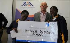 Two Limpopo school girls from Tshivase Secondary have won the 2013 Young Innovators Challenge. Picture: Vumani Mkhize