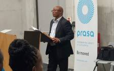 FILE: Prasa administrator Bongisizwe Mpondo addresses a stakeholder engagement forum in Khayelitsha, Cape Town on 23 January 2020. Picture: @PRASA_Group/Twitter