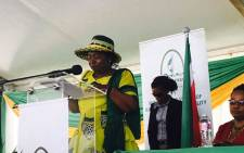 Nkosazana Dlamini-Zuma was speaking in Groutville in the Kwadukuza region in KwaZulu Natal, touching on a range of issues including the freedom charter, women's rights and the economy. Picture: Ziyanda Ngcobo/EWN