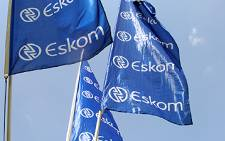 Eskom flags at Megawatt Park in Johannesburg. Picture: EWN