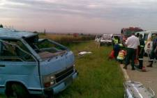 Five people were killed in a taxi accident on the N1 highway on 9 January 2009 when the vehicle overturned. Picture: Werner Vermaak/ER24