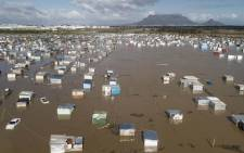 An informal settlement in Cape Town is flooded after heavy rains. Picture: @CityofCT/Twitter